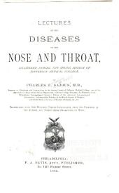 Lectures in the Diseases of the Nose and Throat