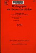 Bibliographie Der Berner Geschichte PDF