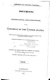 American State Papers: Documents, Legislative and Executive, of the Congress of the United States ..., Part 5, Volume 2