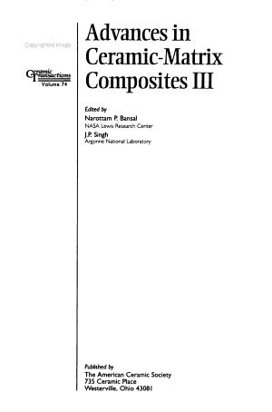 Advances in Ceramic matrix Composites III PDF