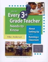 What Every 3rd Grade Teacher Needs to Know PDF