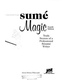 Resume Magic PDF
