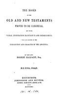 The books of the Old and New Testaments proved to be canonical PDF