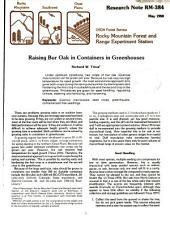 Raising bur oak in containers in greenhouses