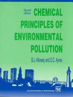 Chemical Principles of Environmental Pollution  Second Edition PDF