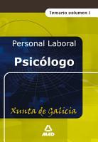 Psicologo de la Xunta de Galicia  Temario Volumen i Ebook PDF
