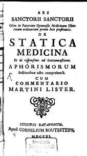 Ars de statica medicina