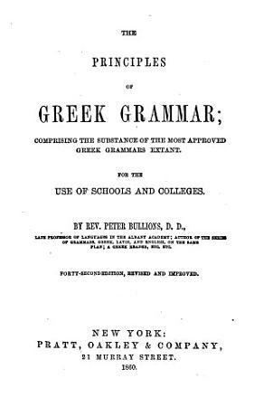 The Principles of Greek Grammar PDF
