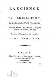 La Science De La Législation: Volume5
