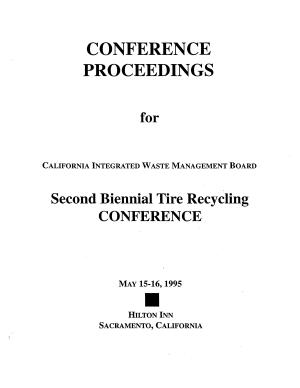 Second Biennial Tire Recycling Conference
