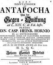 Disp. de antapocha, von der Gegen-Quittung