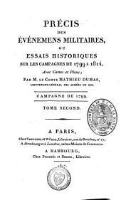 Précis des évènemens militaires ou essais historiques sur les campagnes de 1799 à 1814: Volume2
