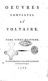 Oeuvres completes de Voltaire. Tome premier [-quatre-vingt-douzieme]: °Annales de l'empire depuis Charlemagne. Regum, pontificum, populorum, continet aestus. Tome 1.!, Volume28