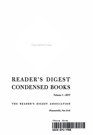 READER S DIGEST CONDENSED BOOKS