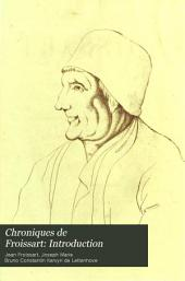 Chroniques de Froissart: Introduction