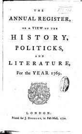 Annual Register: Volume 12