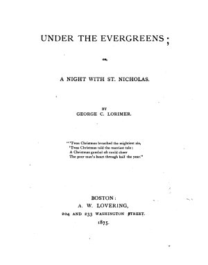 Under the Evergreens, Or, a Night with St. Nicholas
