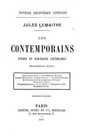Les contemporains: études et portraits littéraires: sér. Leconte de Lisle