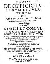 Theses De Officio Tutorum Et Curatorum