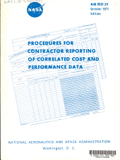 Procedures for Contractor Reporting of Correlated Cost and Performance Data