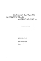 Crisis and Capitalism in Contemporary Argentine Cinema PDF