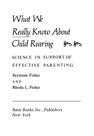 What We Really Know Chld Rea PDF