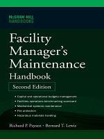 Facility Manager's Maintenance Handbook