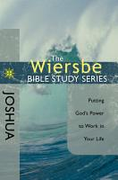 The Wiersbe Bible Study Series  Joshua PDF