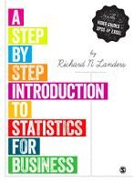 A Step by Step Introduction to Statistics for Business PDF