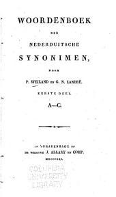 Woordenboek der Nederduitsche synonimen: Volume 1