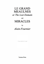 Le Grand Meaulnes  Or  The Lost Domain   And  Miracles PDF