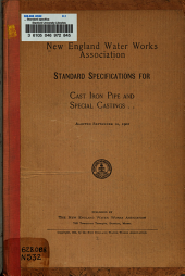 ... Standard specifications for cast-iron pipe and special castings, adopted September 10, 1902