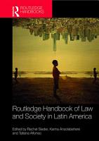 Routledge Handbook of Law and Society in Latin America PDF