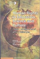 Human Rights in Education  Science  and Culture   Legal Developments and Challenges PDF