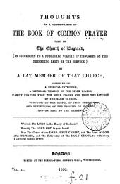 Thoughts on a continuation of the Book of common prayer used in the Church of England, by a lay member of that Church [J. Stow].