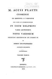 Scriptores latini, jussu christianissimi regis ad usum serenissimi Delphini: Plautus, Titus Maccius
