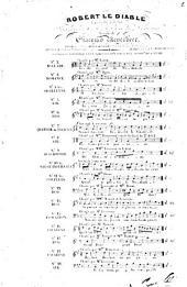 Robert le diable: opéra en 5 actes ; catalogue thématique des morceaux détachés avec accompt. de guitare. Air: En vain j'espère, Volume 5