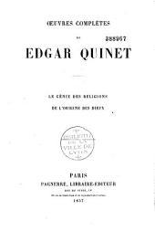 Oeuvres complètes de Edgar Quinet: Volume2