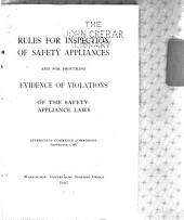 Rules for Inspection of Safety Appliances and for Procuring Evidence of Violations of the Safety-appliance Laws: Interstate Commerce Commission September 1, 1907