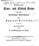Geistreiche sinn- und schluss- reime aus dem Cherubinischen wandersmanne des Angelus Silesius [pseud.]