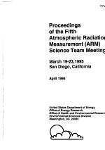 Proceedings of the ... Atmospheric Radiation Measurement (ARM) Science Team Meeting