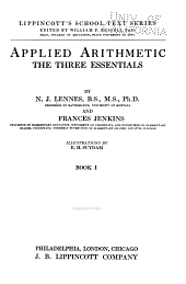 Applied Arithmetic: The Three Essentials, Volume 1
