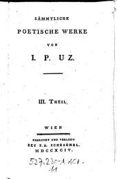 Sämmtliche Poetische Werke ; III. Theil: Volume 11