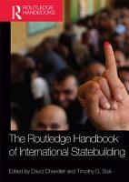 Routledge Handbook of International Statebuilding PDF