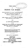 The Life of Martin Van Buren    PDF