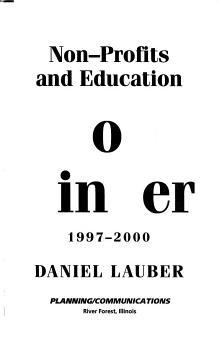 Non profits and Education Job Finder PDF