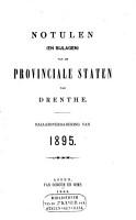 Notulen  en bijlagen  van de Provinciale Staten van Drenthe PDF