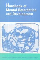 Handbook of Mental Retardation and Development PDF