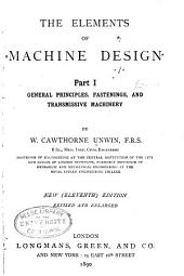 The Elements of Machine Design: Part 1