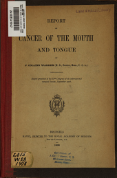 Report on cancer of the mouth and tongue